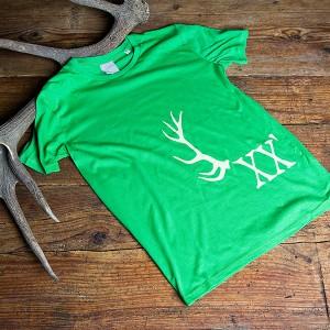 Herrenshirt Geweih, grün