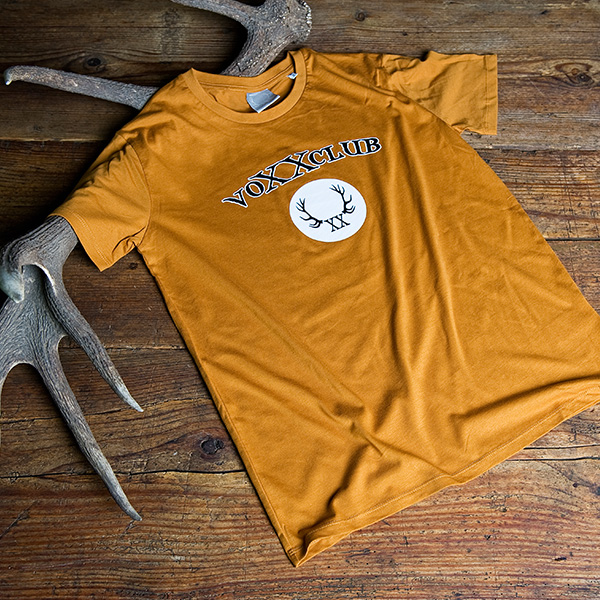 Herrenshirt Logo, braun
