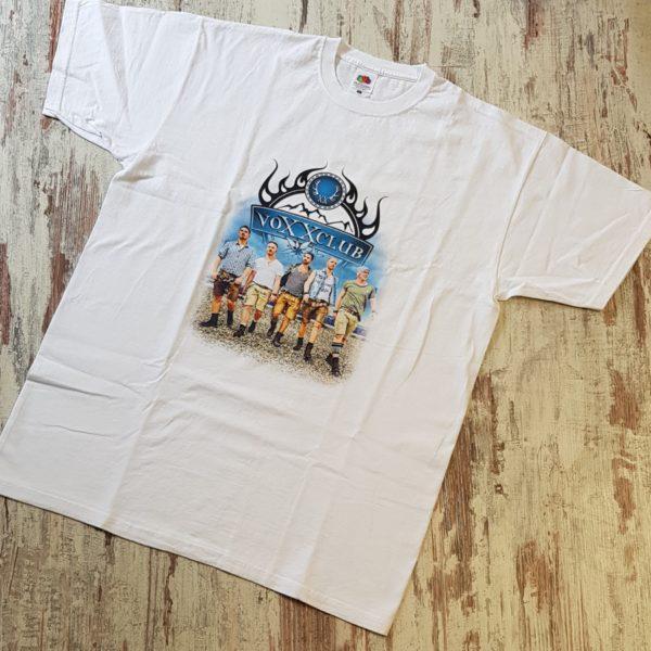 Herrenshirt voXXclub Logo und Band weiß 3