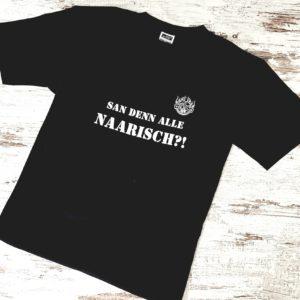 Herrenshirt Naarisch?!, schwarz