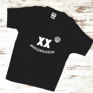 Herrenshirt #geilerscheiss, schwarz