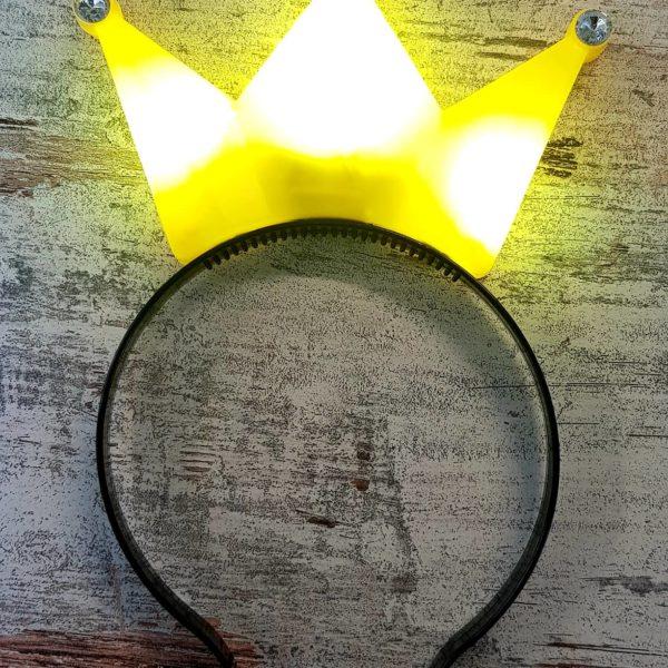 Krone gelb leuchtend bearbeitet